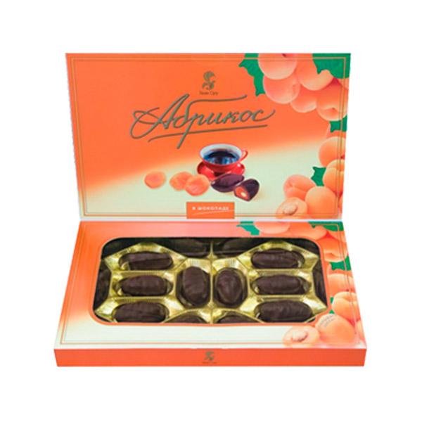 Абрикос в шоколаде конфеты 250 гр (Баян сулу)