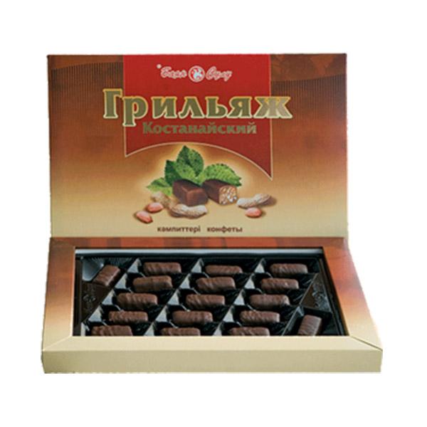 Грильяж Кустанайский конфеты 215гр (Баян сулу)