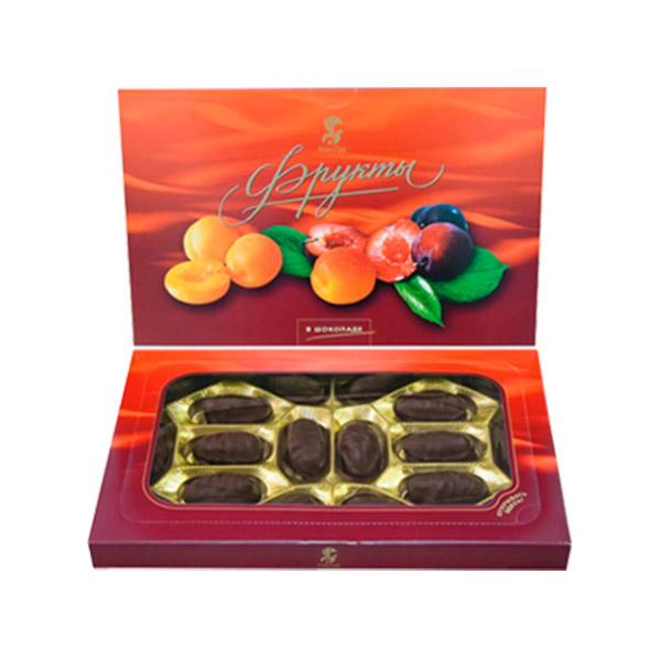 Фрукты в шоколаде конфеты 250 гр (Баян сулу)