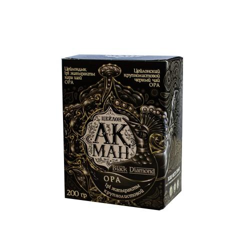 Чай Акман Блэк (Black Diamond) Цейлонский Крупнолистовой 200 гр
