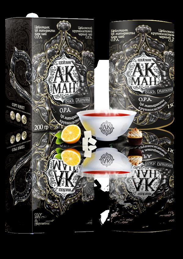 Чай Акман Блэк (Black Diamond) цейлонский крупно листовой 80 гр