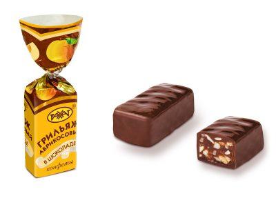 Грильяж абрикосовый конфеты конфеты 1 кг (Рахат)