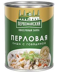 Каша Перловая с мясом говядины 340 гр (ПКЗ)