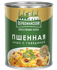 Каша Пшенная с мясом говядины 340 гр (ПКЗ)