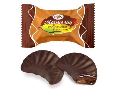 Мармелад Апельсиновый в шоколаде 1 кг (Баян сулу)