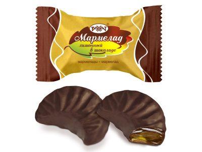 Мармелад Лимонный в шоколаде 1 кг (Рахат)