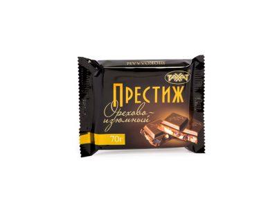 Шоколад Престиж Орехово — изюмный 70гр (Рахат)