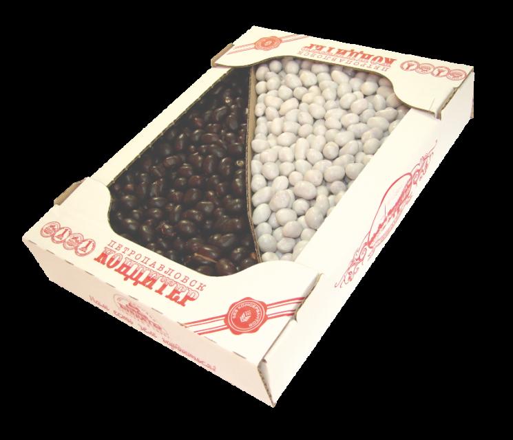 Арахис в темной и белой глазури 1, 5 кг (Петрокондитер)