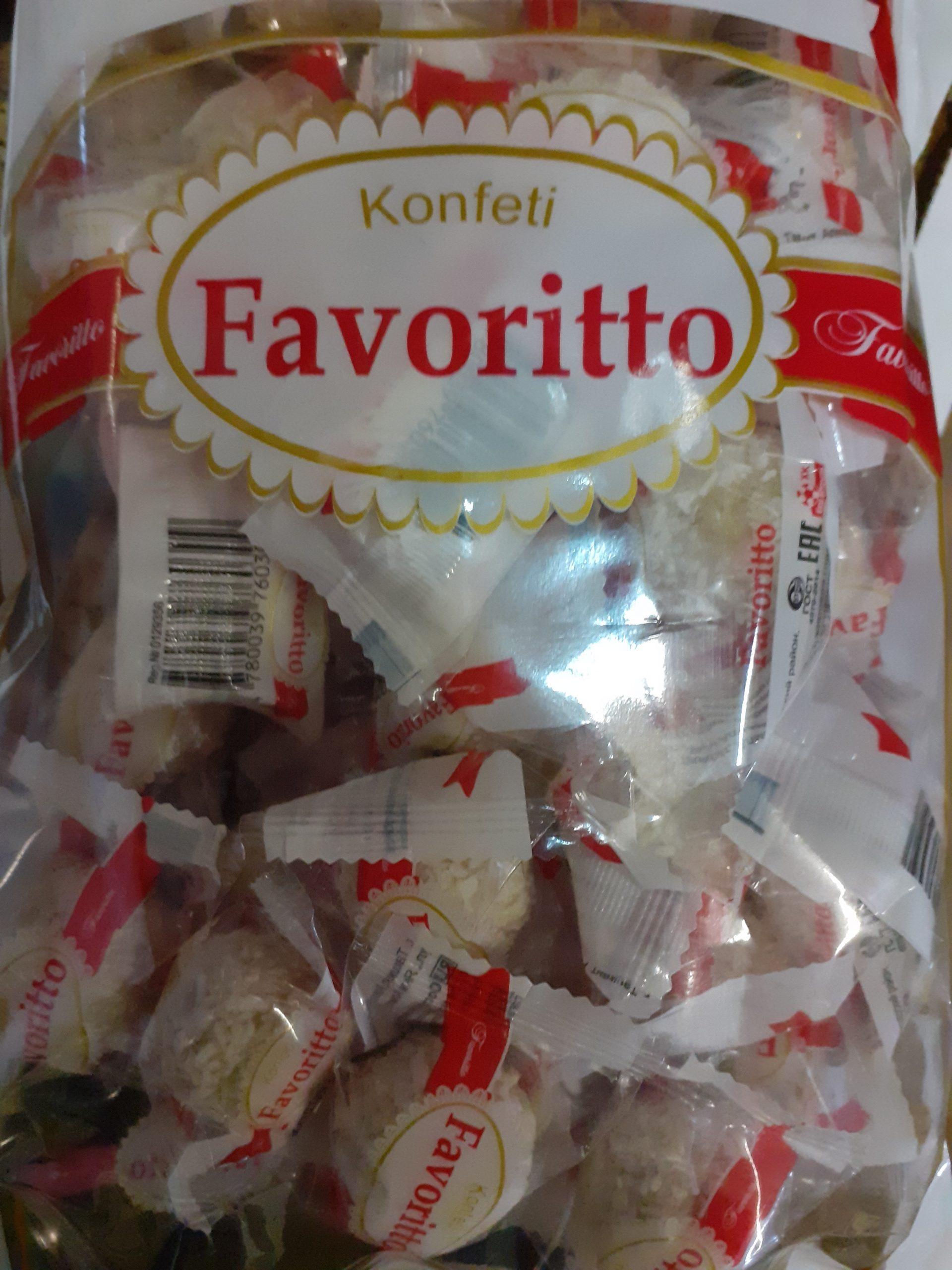 Конфеты Кокосовые Фаворитто 0,5 кг