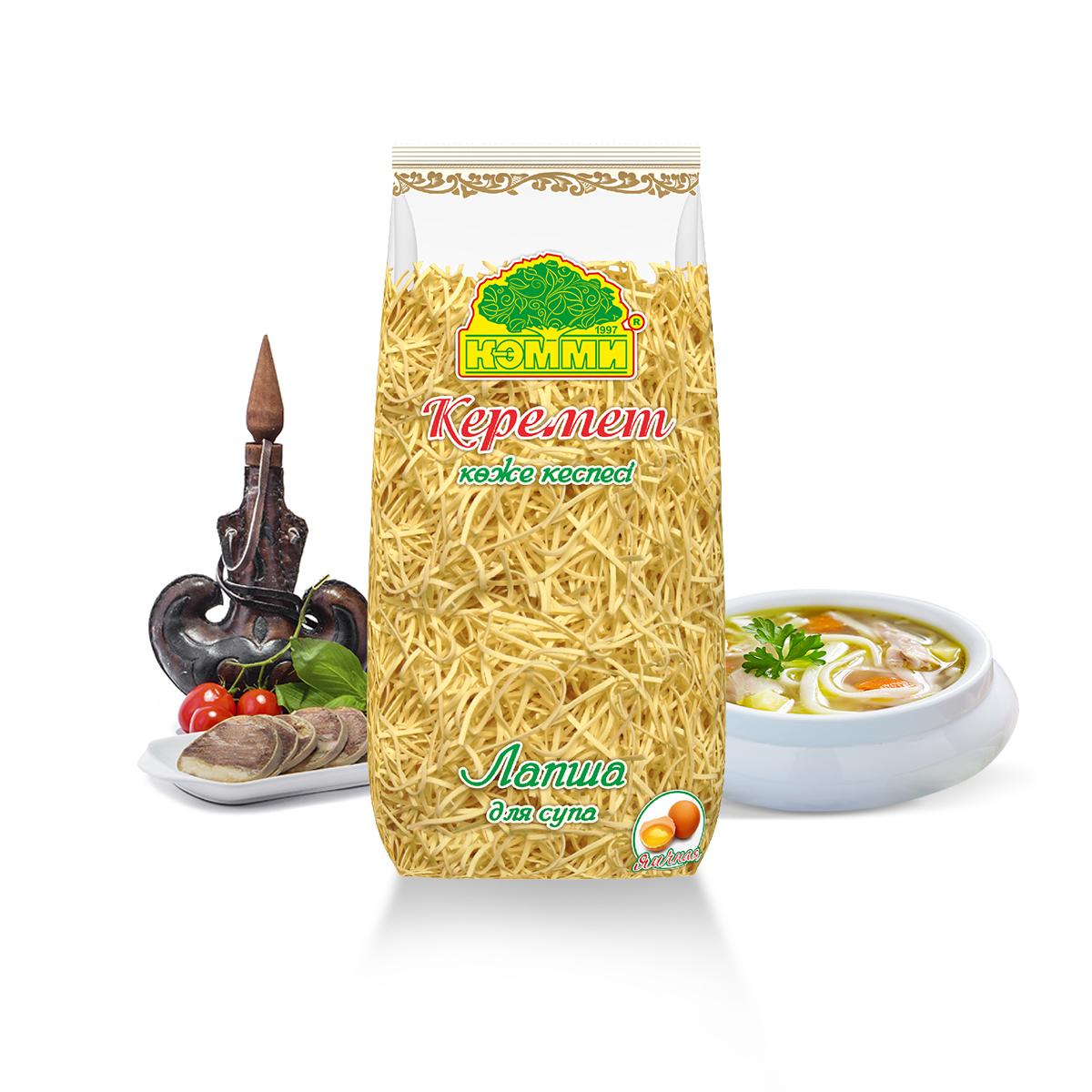 Лапша для Супа Яичная Керемет 500 гр (Кэмми)